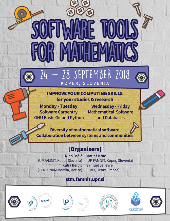Invitation to the workshop on software tools for mathematics up famnit dates and location stopboris Image collections